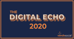Email Header for the Digital Echo 2020 newsletter in which Vende Digital will help you reach your 2020 digital marketing goals